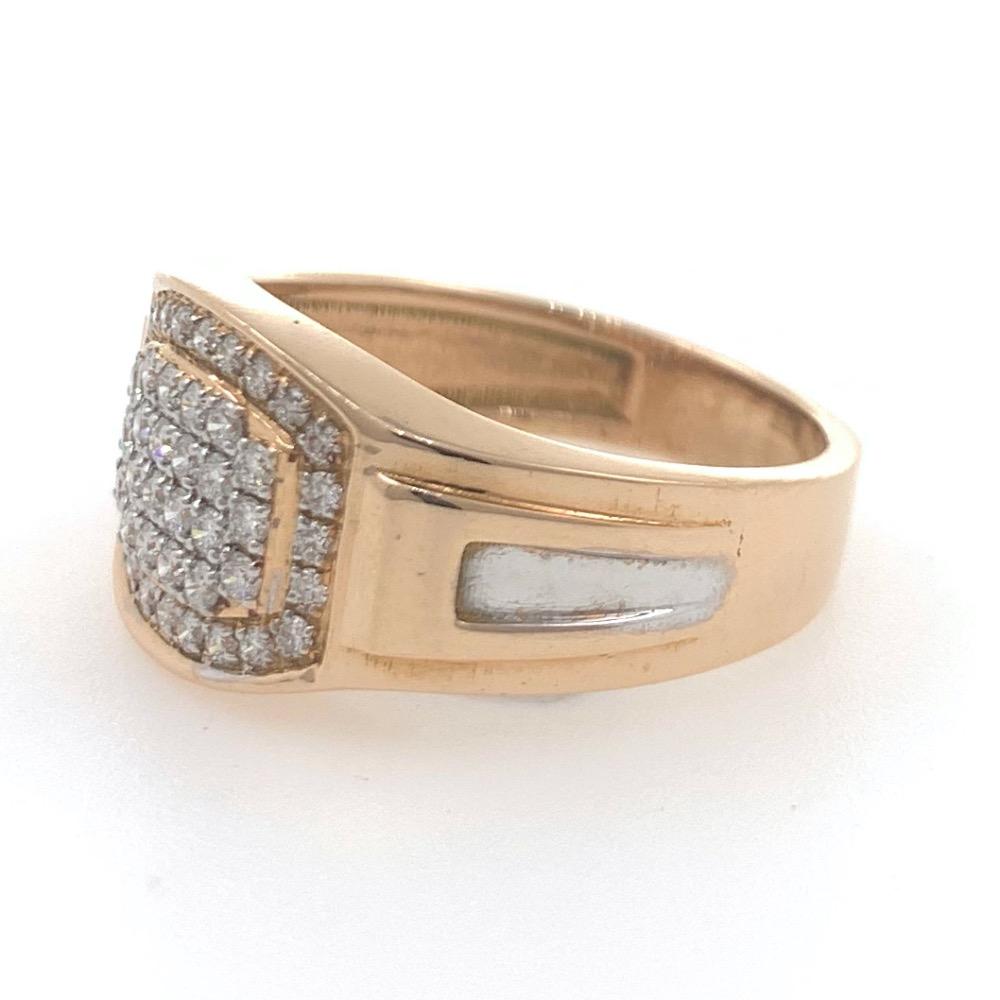 18kt / 750 rose gold fancy graduation band diamond ring 9gr38