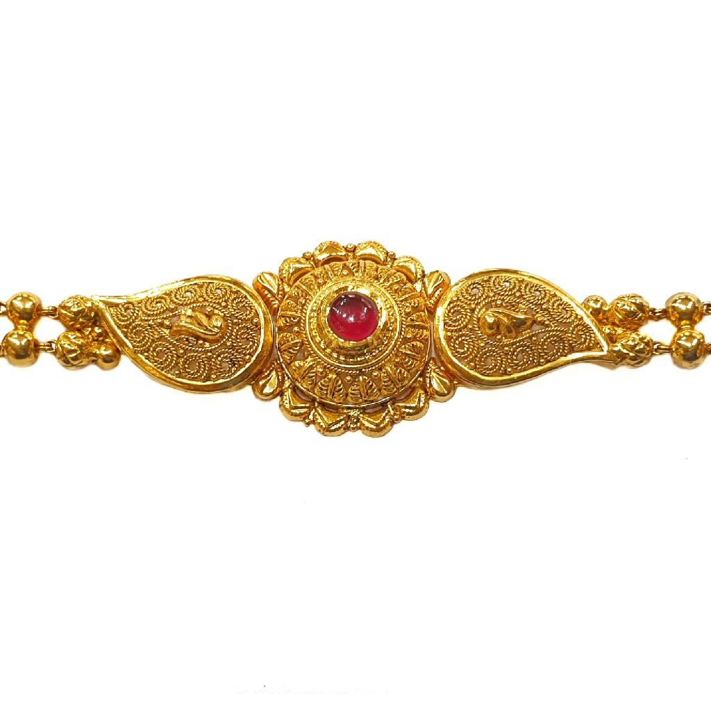 22K Gold Antique Modern Bracelet MGA - GB005