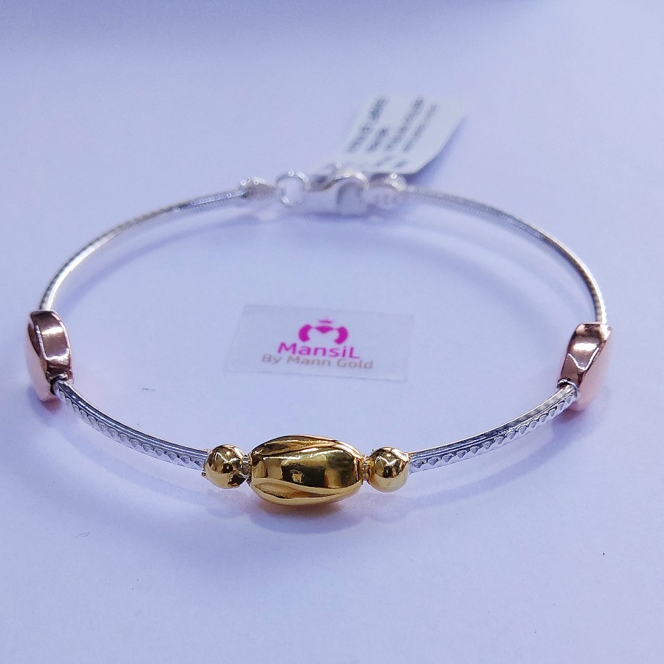 92.5 sterling silver Italian style Kada bracelet ML-90