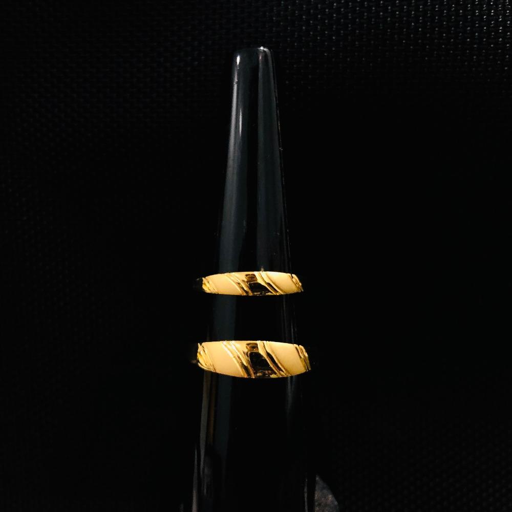 916 Gold Plain Couple Ring KDJ-R036