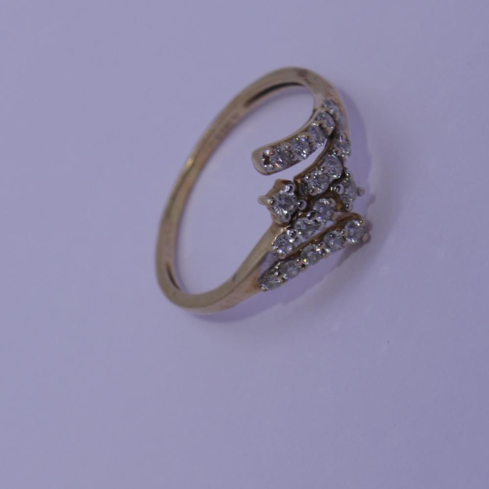 14k gold diamond ring  agj-lr-27