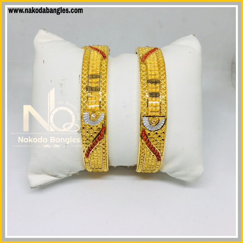 916 Gold Calcutty Bangles NB - 440