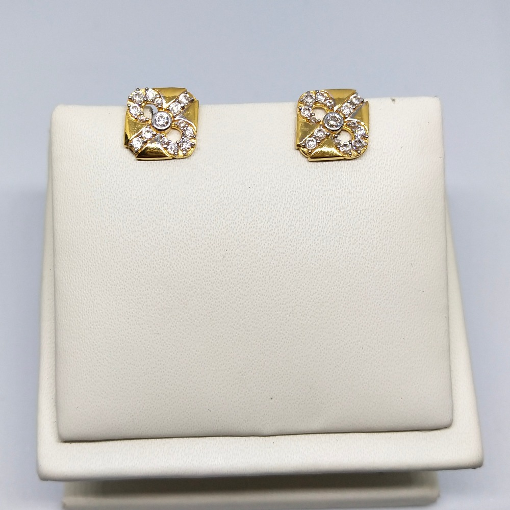 18KT gold attractive earring dj-e007