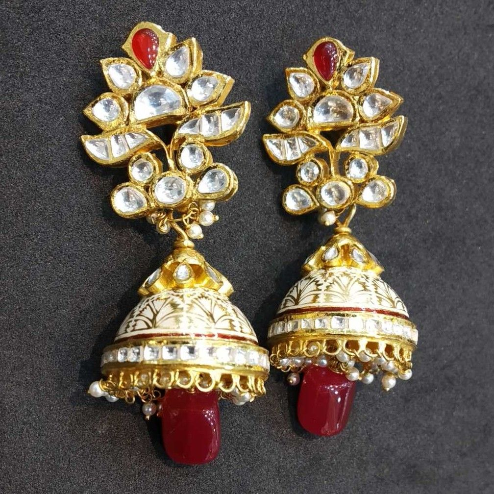 22 kt gold jodhpuri antique set