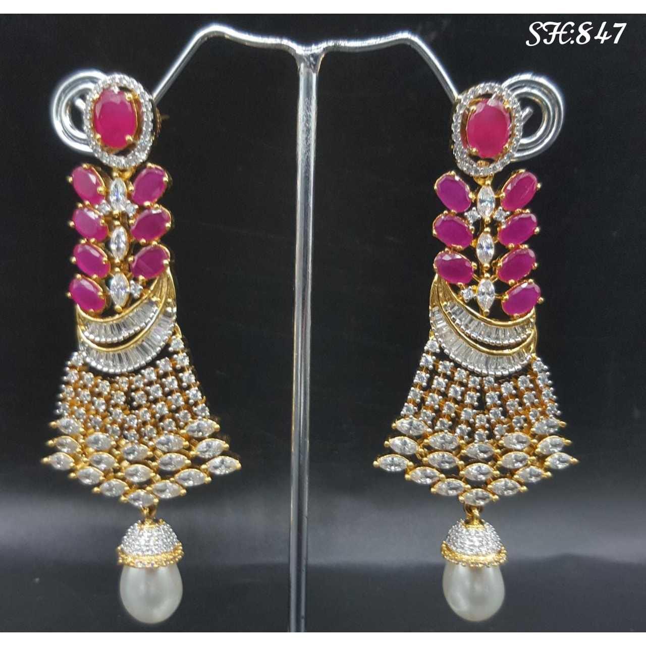 Designer Diamond Earrings#1059