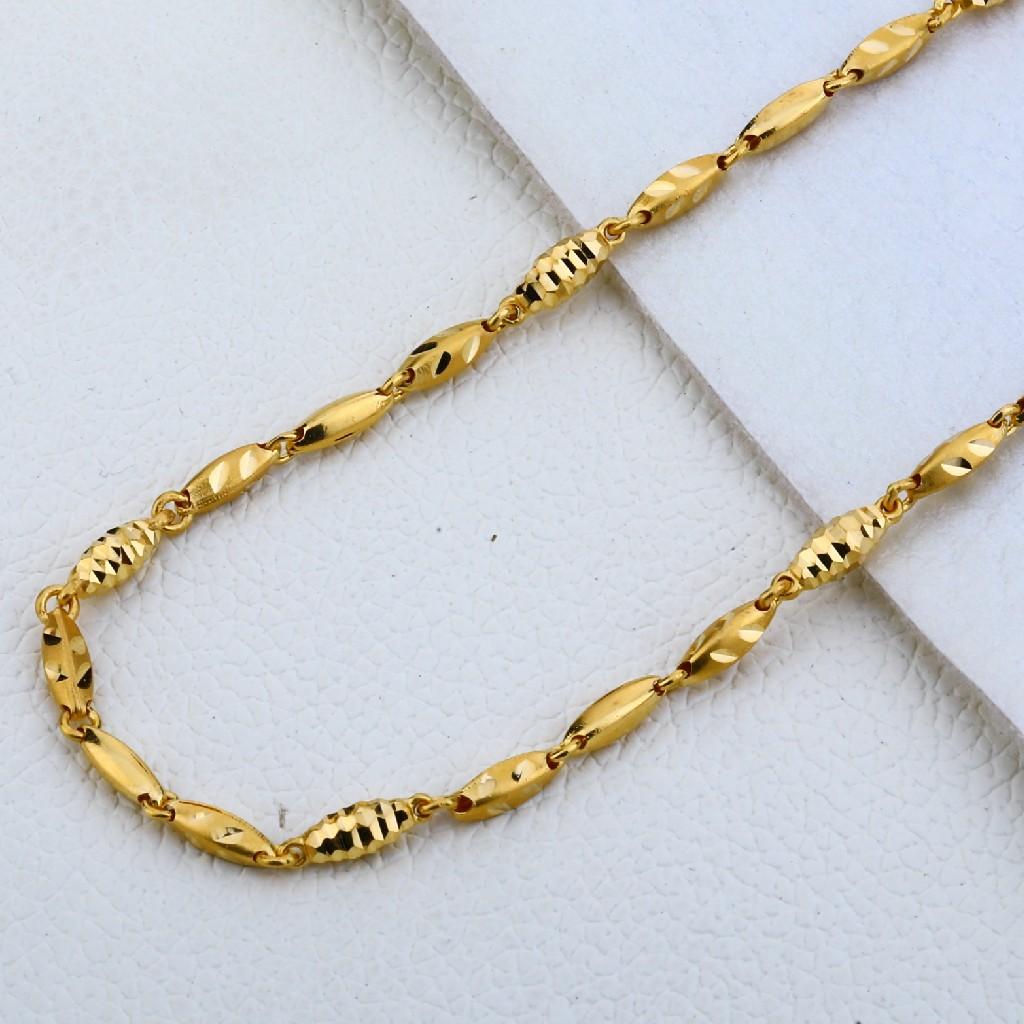 916 Gold Hallmark Designer Choco Chain MCH195