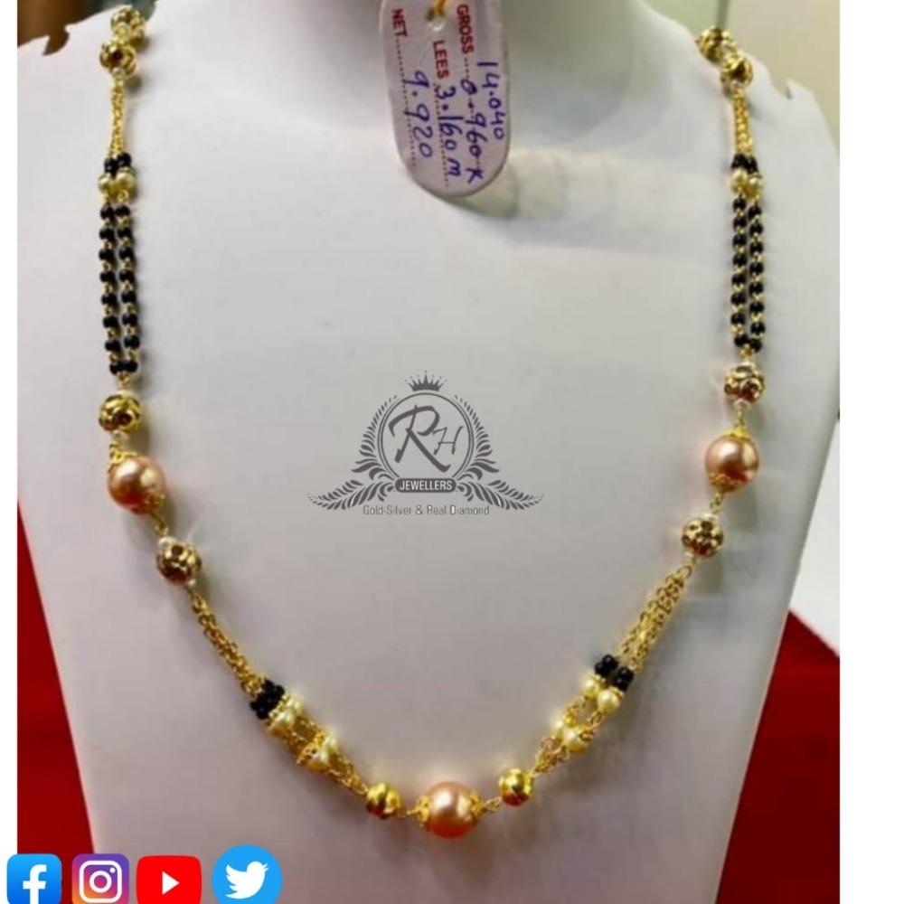 22 carat gold antique ladies mangalsutra RH-MN564