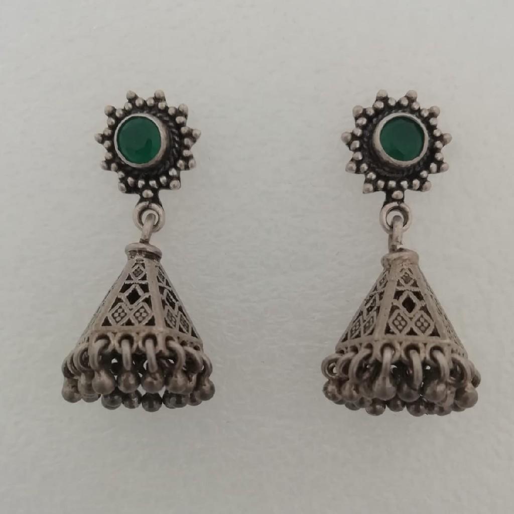 Sterling silver jummar style earrings