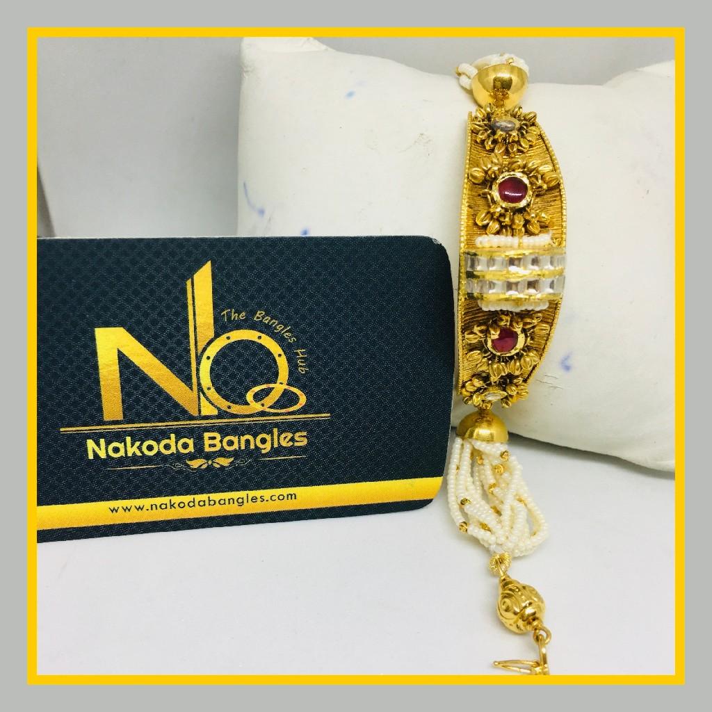 916 Gold Antique Bracelet NB - 1031