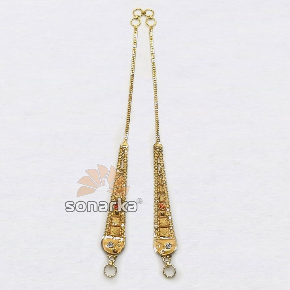 Gold Earchain SK - K033