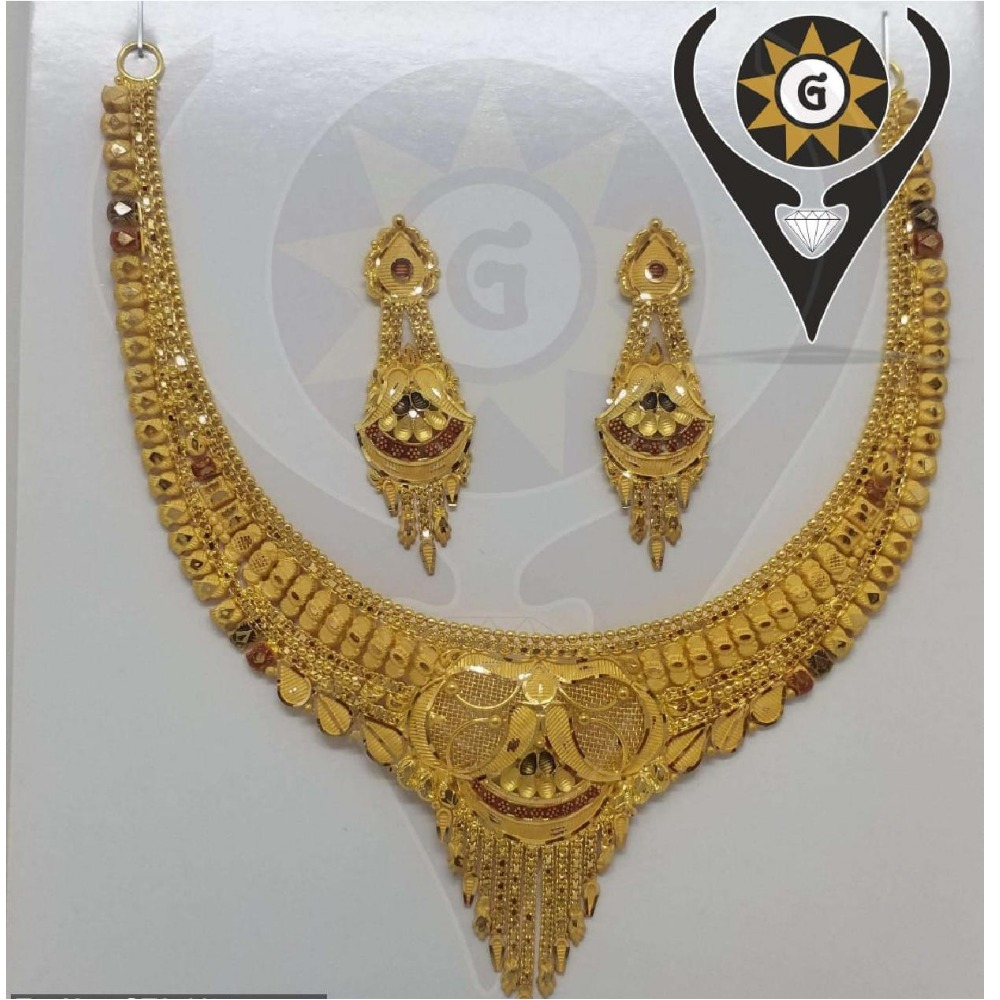 22KT Gold Hallmark Trendy Necklace set