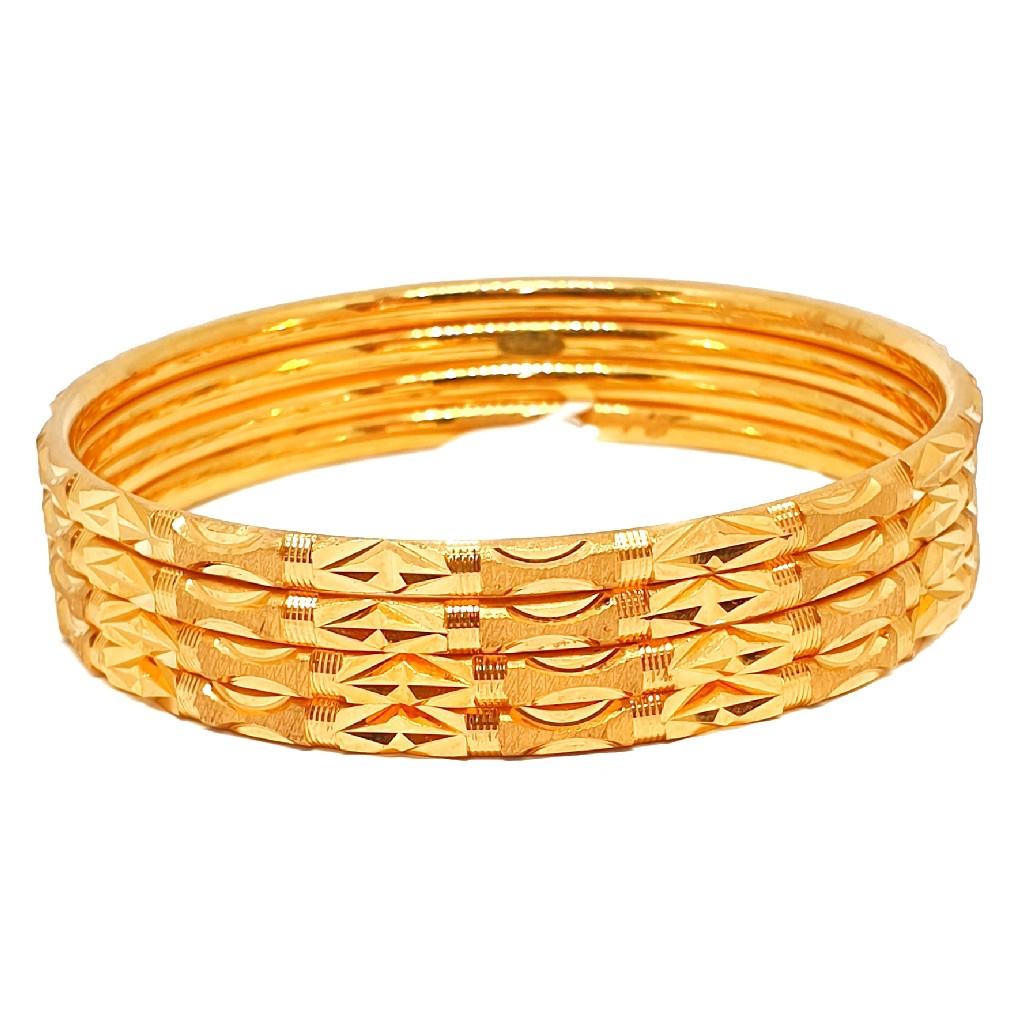 1 gram gold forming plain bangles mga - bge0345