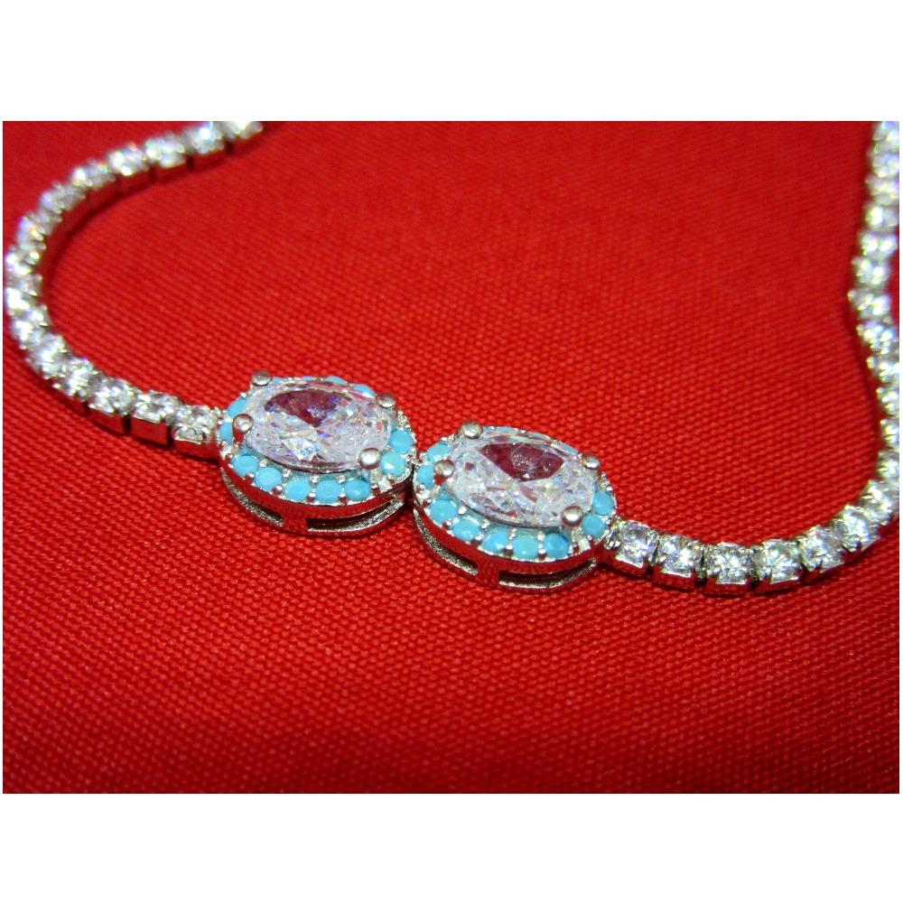 Silver 925 stone adujustable bracelet sb925-14