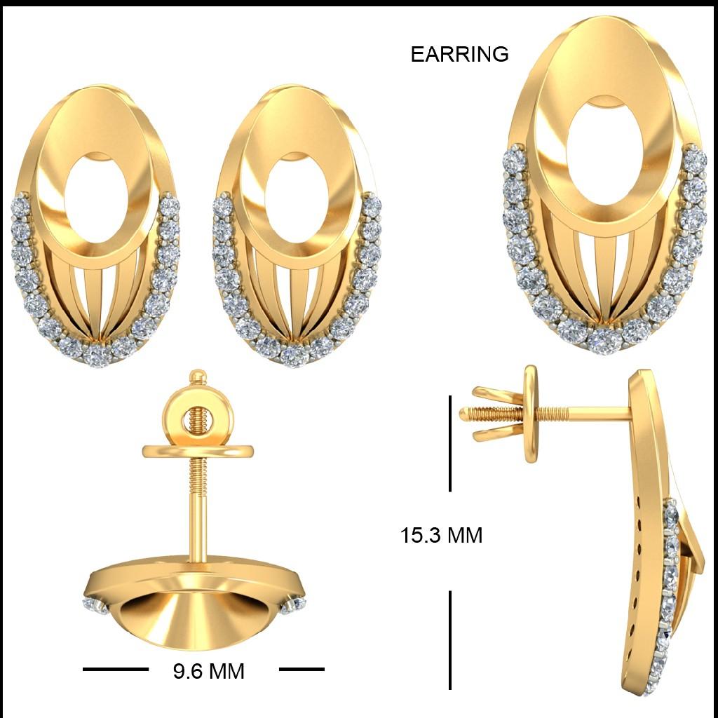 22kt Yellow Gold Shravanthi Earrings For Women