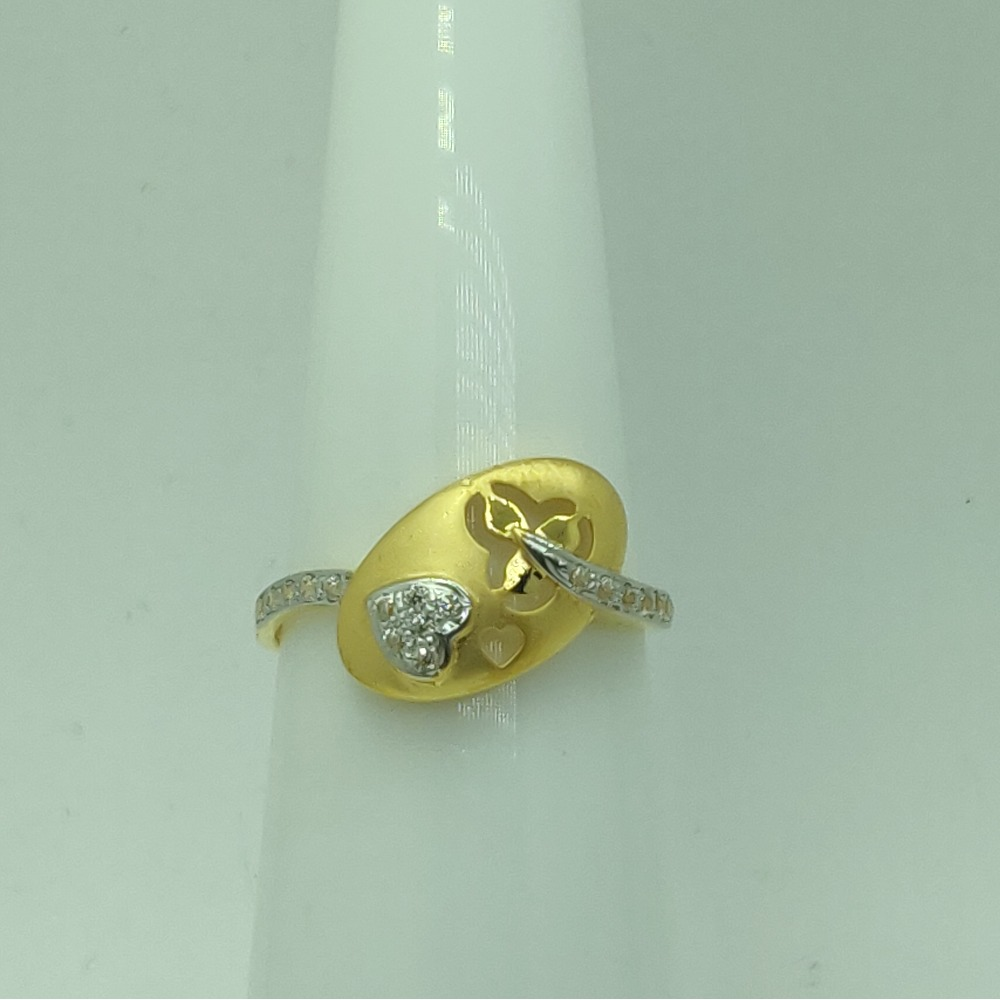 916 Gold CZ Attractive Ring For Women SSJ-R010