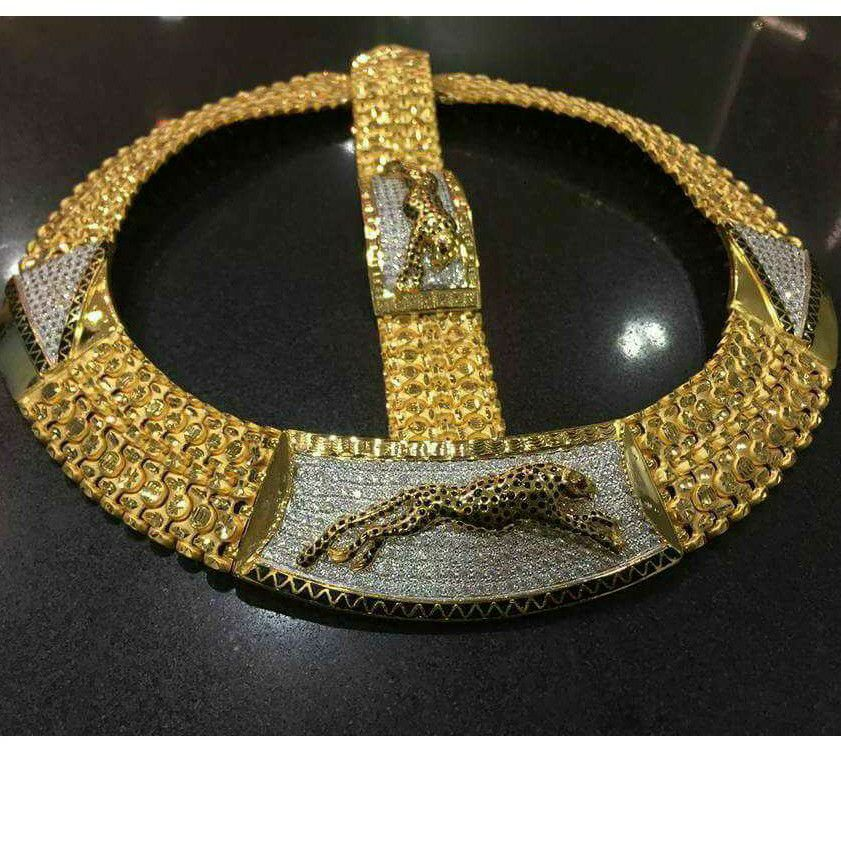 916 Gold Bahubali Chain & Lucky