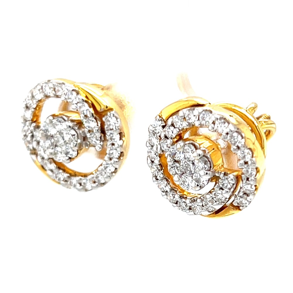 Circulaire diamond earrings with pressure set in centre 8top40