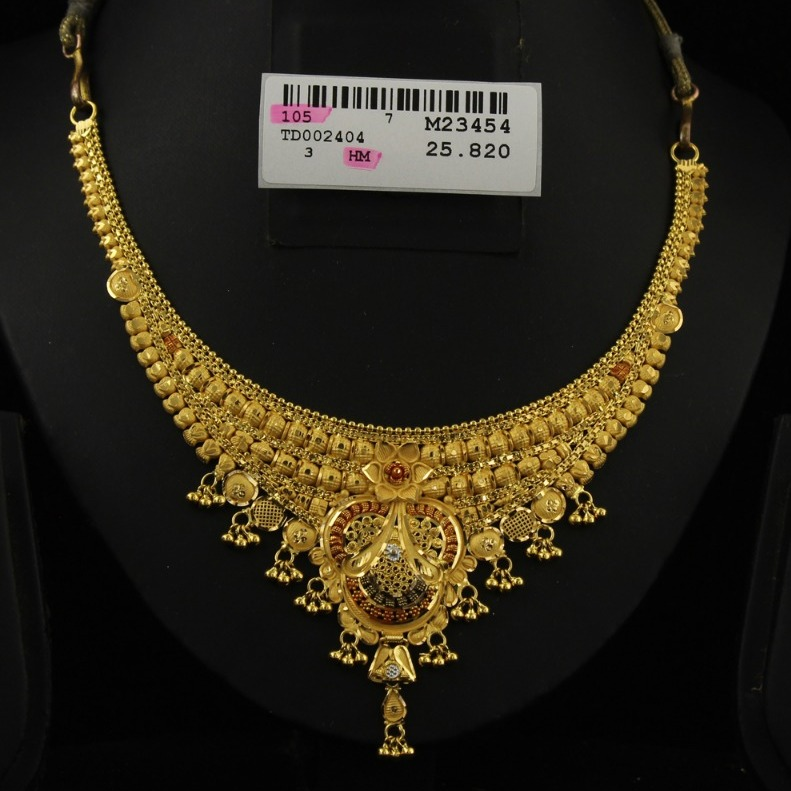 916 Gold Hallmark Bridal Necklace Set