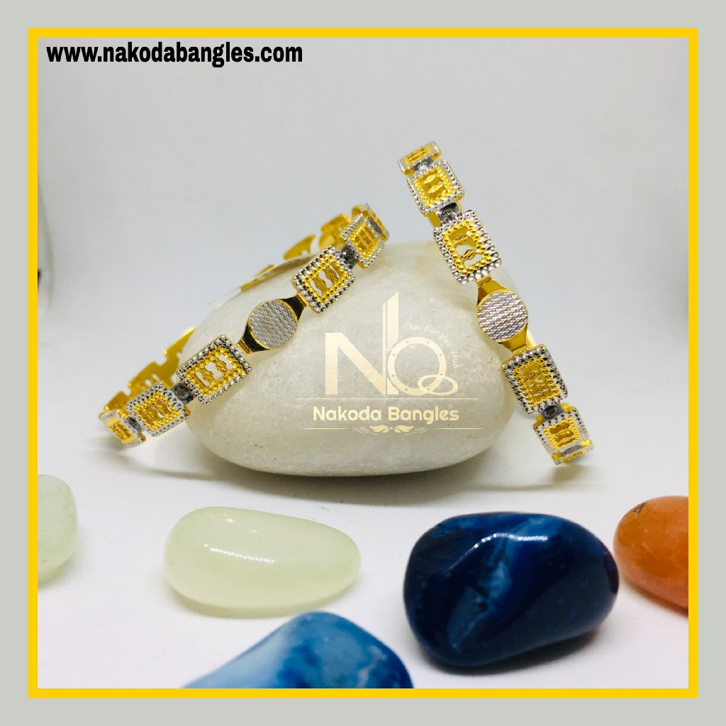 916 Gold CNC Bangles NB - 1282