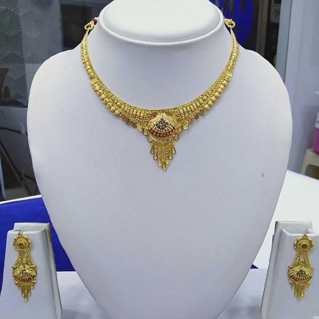 916 Gold Fancy Necklace Set RJ-N009