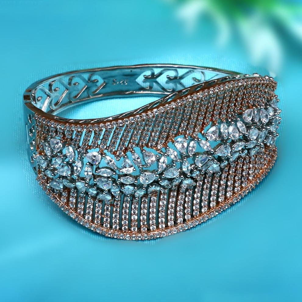925 Silver Designer Diamond Ring For Wedding PJ-R038