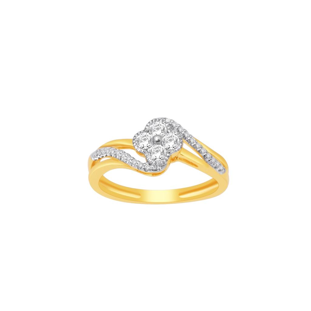 Real diamond fancy ladies ring