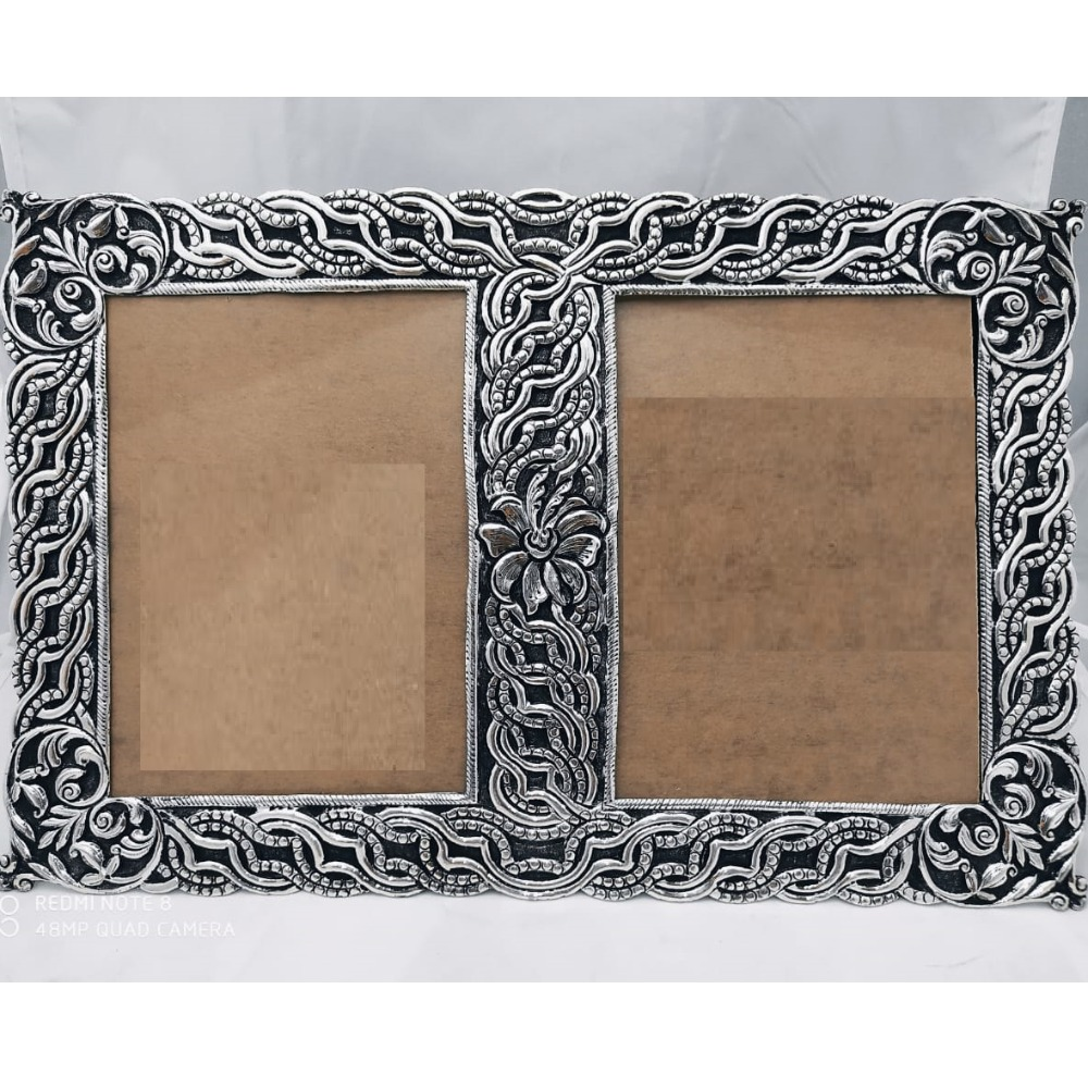 Pure Silver Photo Frame In Antique Nakashii work PO-171-19