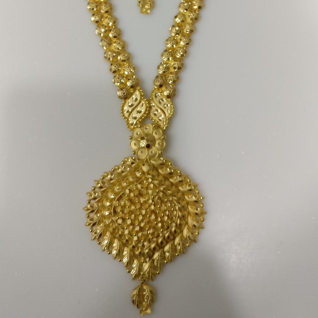 22kt gold plain handmade Haram and necklace set