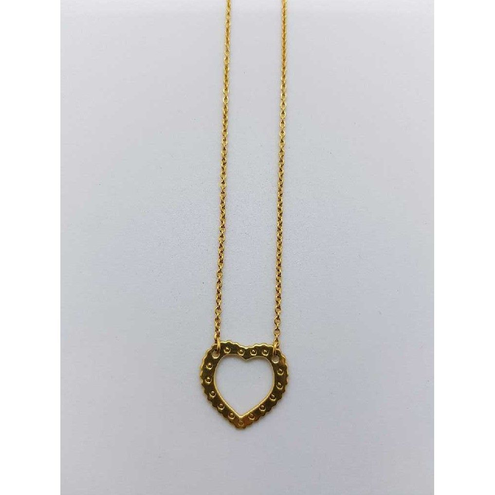 18ct Heart Shape pendent Chain SJ-CHIN/6