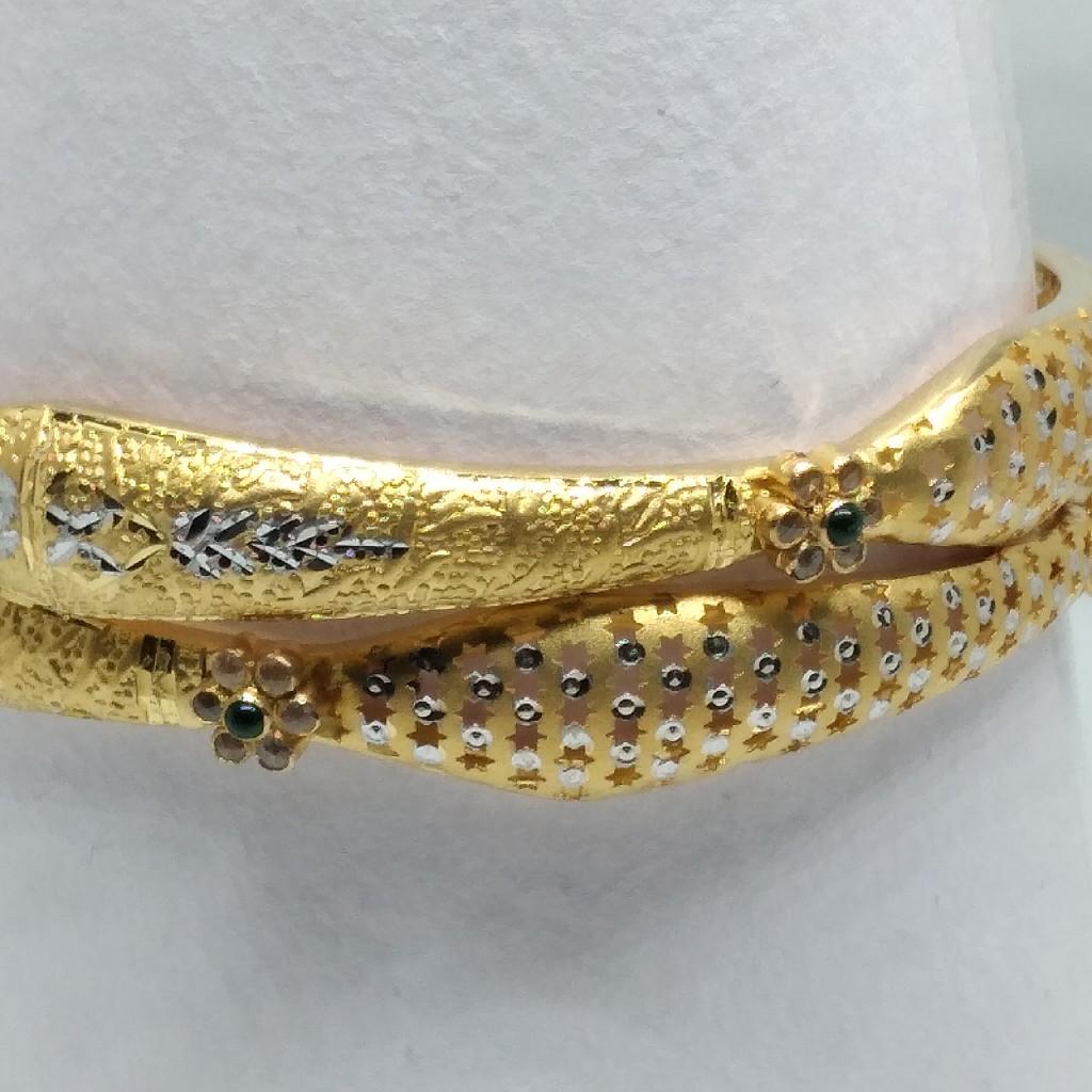 22 kt gold antique copper kadli latest
