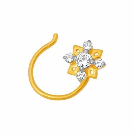 18K Gold Real Diamond Nosepin MGA - RN005