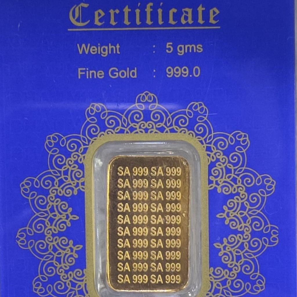 24KT Yellow  Gold Five Gram Lagdi