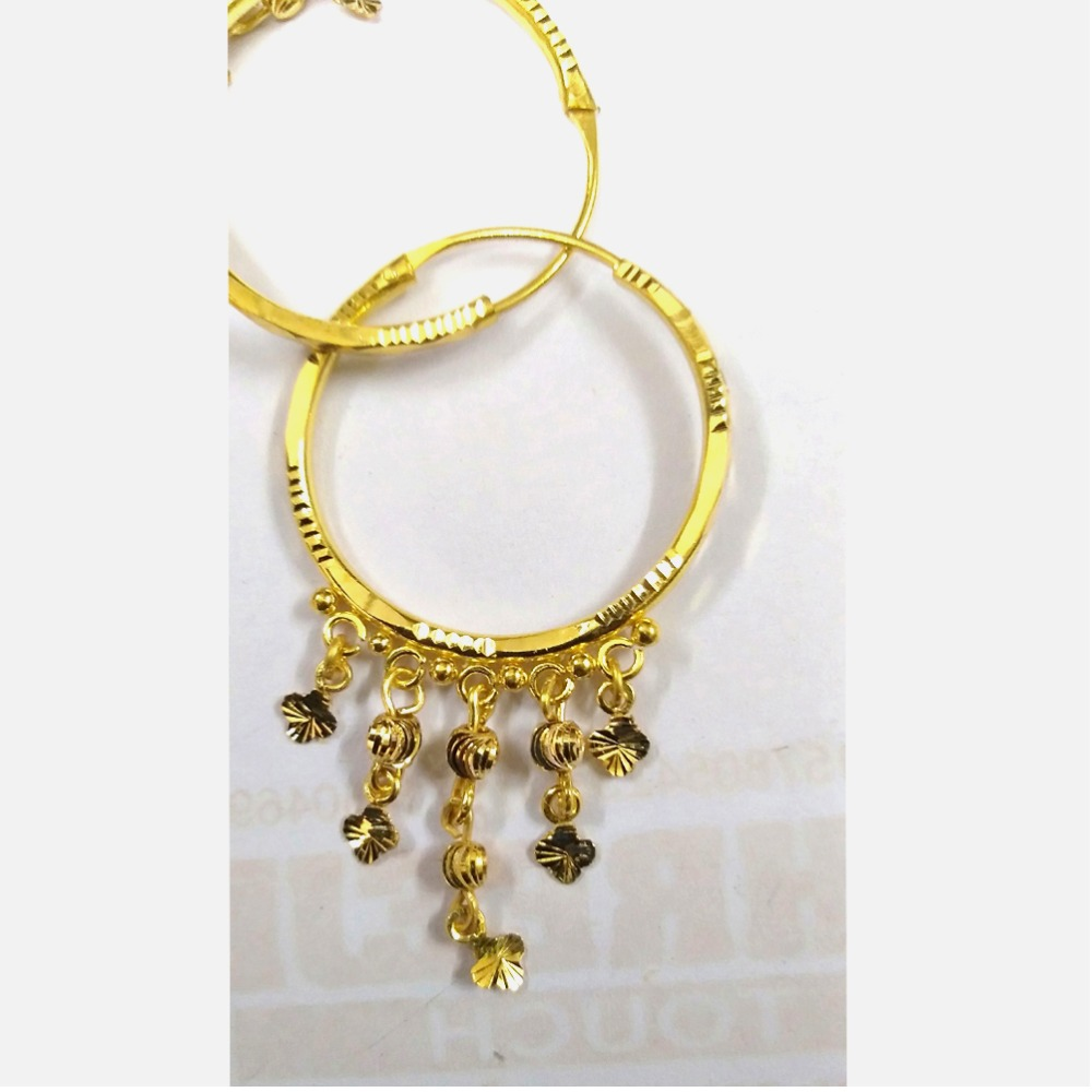 22kt Gold Designer Latkan Bali For Ladies