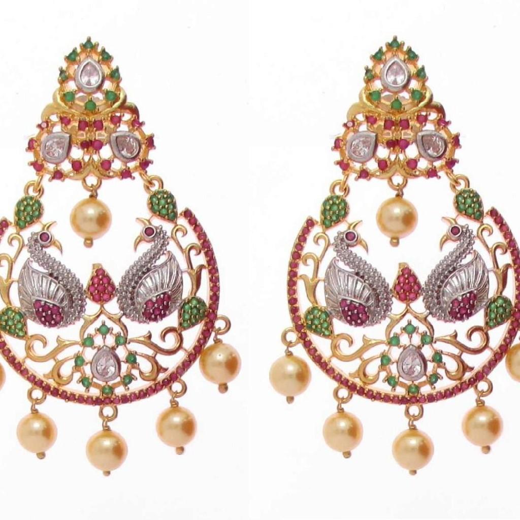92.5 sterling silver exclusive bridal earrings ml-018