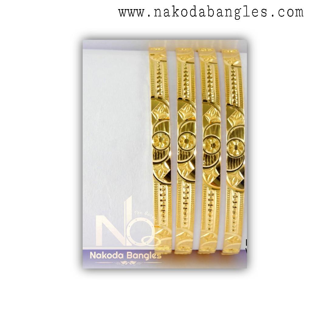 916 Gold CNC Bangles NB - 1326