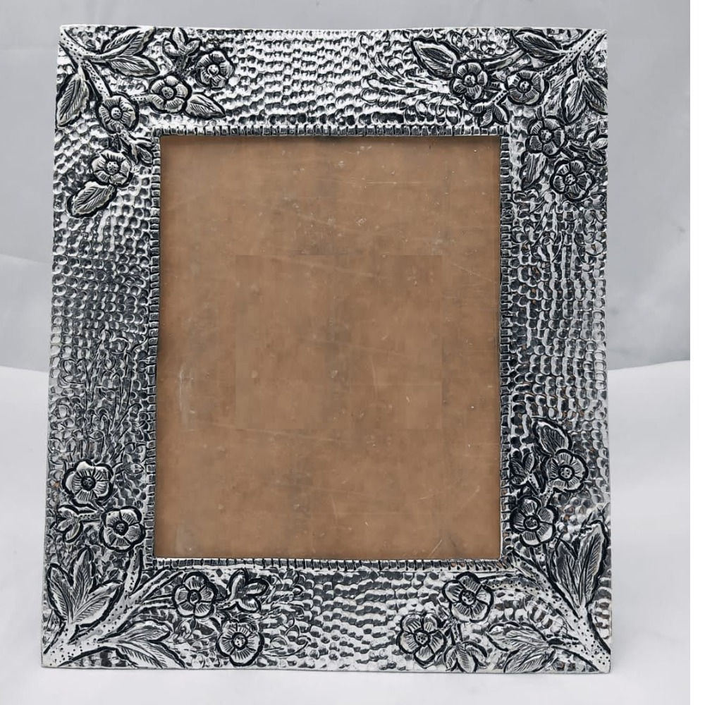 Pure Silver Photo Frame In Antique Nakashii work PO-171-11