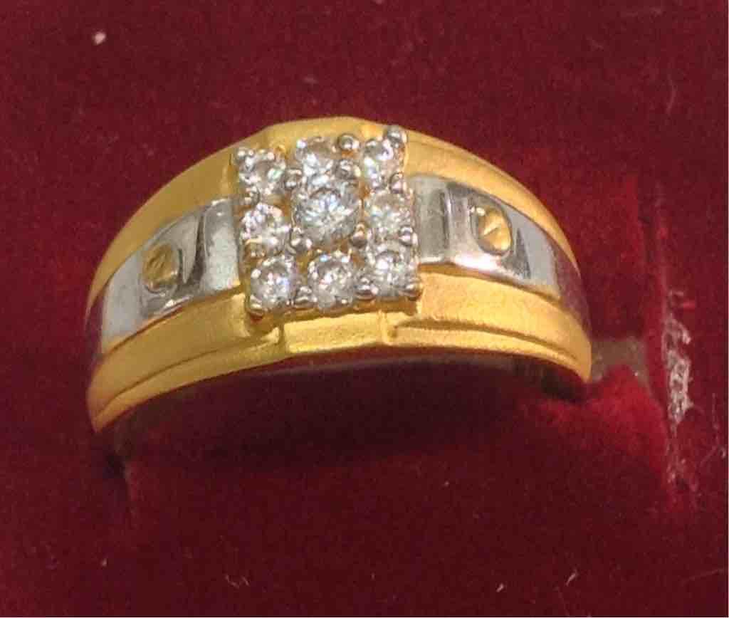 916 Hallmarked  gold diamond wedding ring