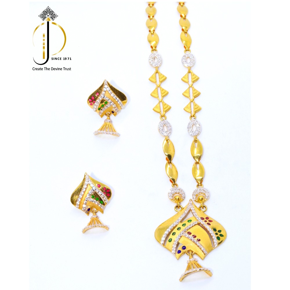 916 / 22ct Gold Traditional Necklace Set for Ladies  STG0020