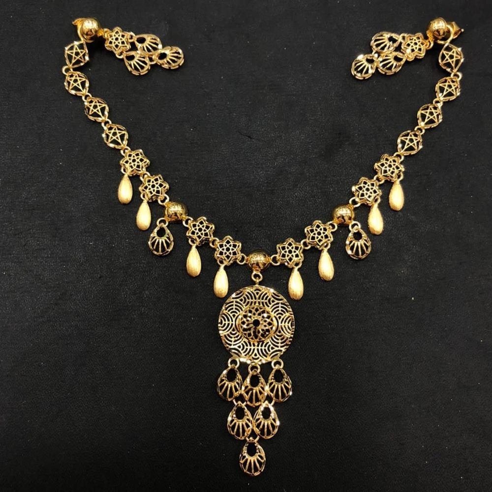 22K Gold Turkish Design Necklace Set