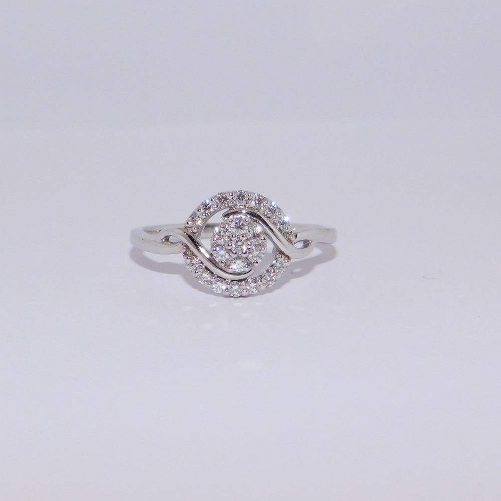 18K gold diamond ring agj-lr-323
