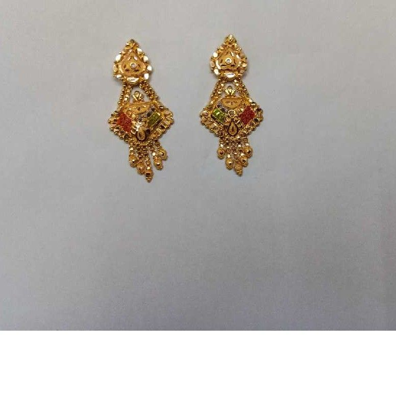18kt Gold Designer Ladies Earrings