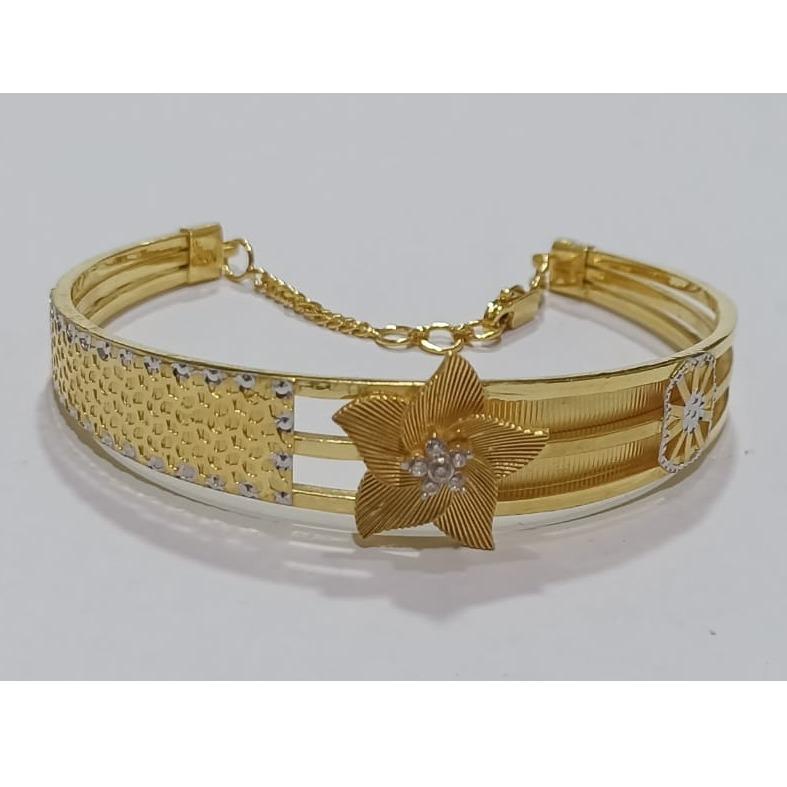 916 gold flower design bracelet sg-b03