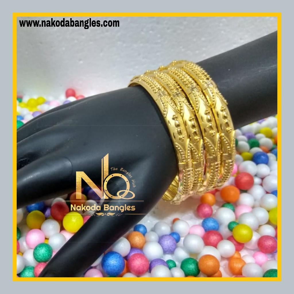 916 Gold Patra Bangles NB - 619