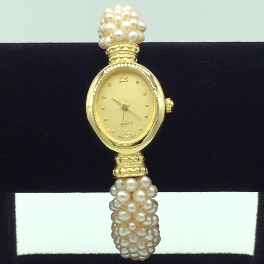 Freshwater OrangeSeed Jali Pearls WatchJBG0245
