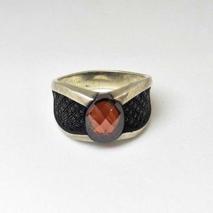 925 Sterling Silver Oxides Designed Gents Ring