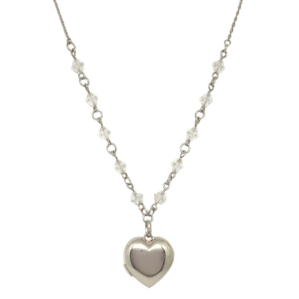 925 Sterling Silver Heart Shaped Necklace Chain MGA - CHS1763