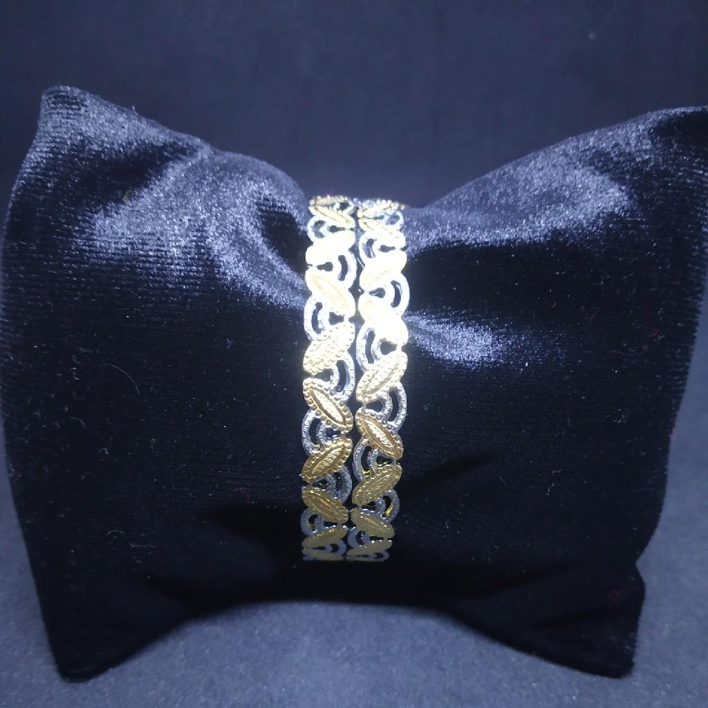 CNC two(2) tone rodiyam different type of silver gold bangle(kadli,kangan,patla) 07