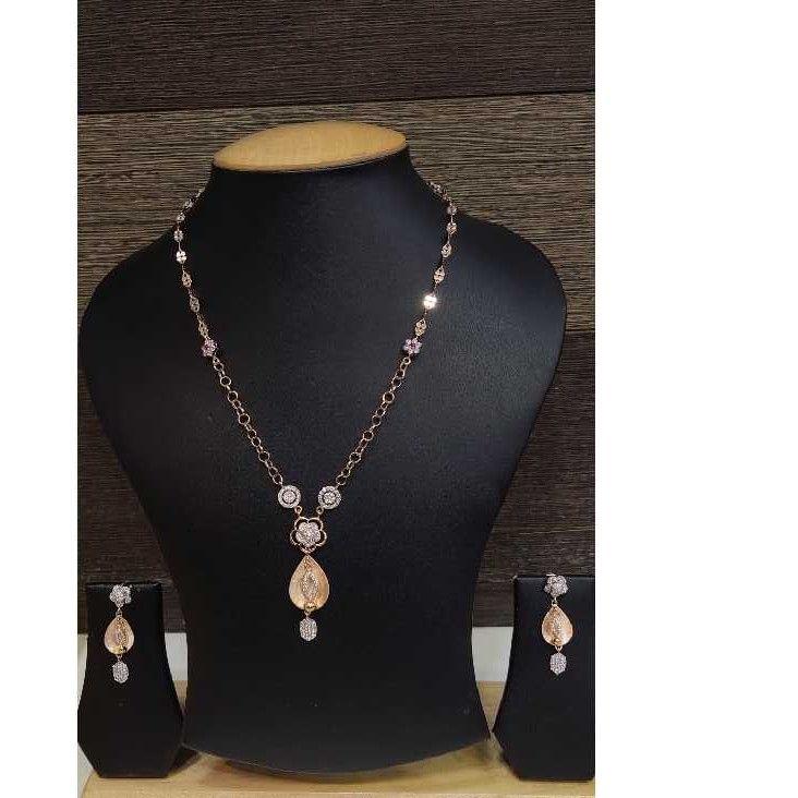 18k Ladies Fancy Rose Gold Set S-57530