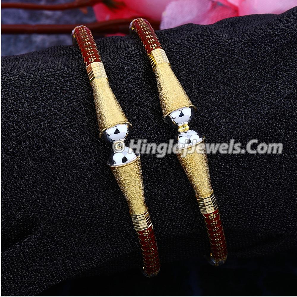 916 Gold Meenakari Modhiya Copper Bangle HJ-5834