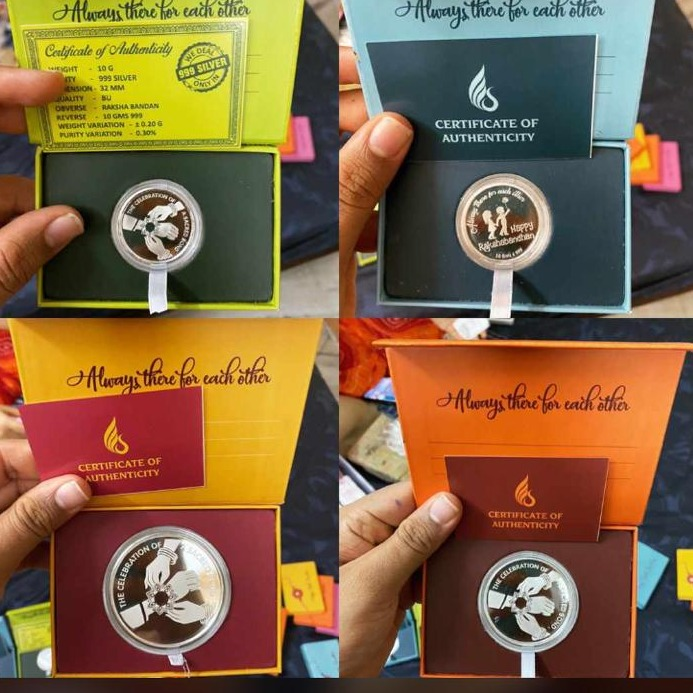 Silver 999 rakashabandhan Desgin Coin